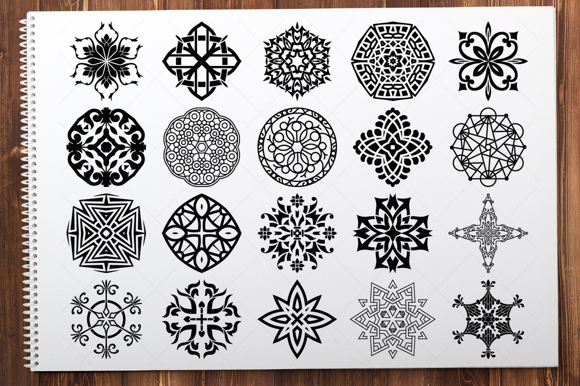 500 Vector Mandala Ornaments example image 6