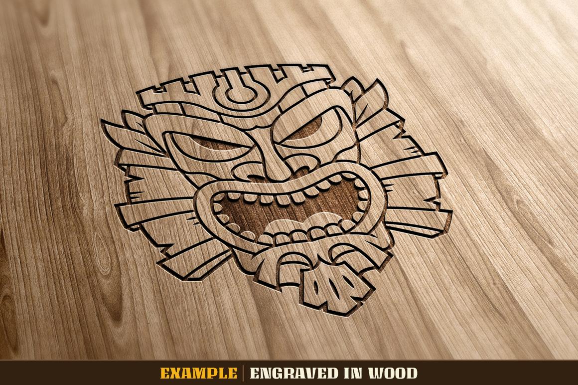 Tiki Head Illustrations Set example image 14