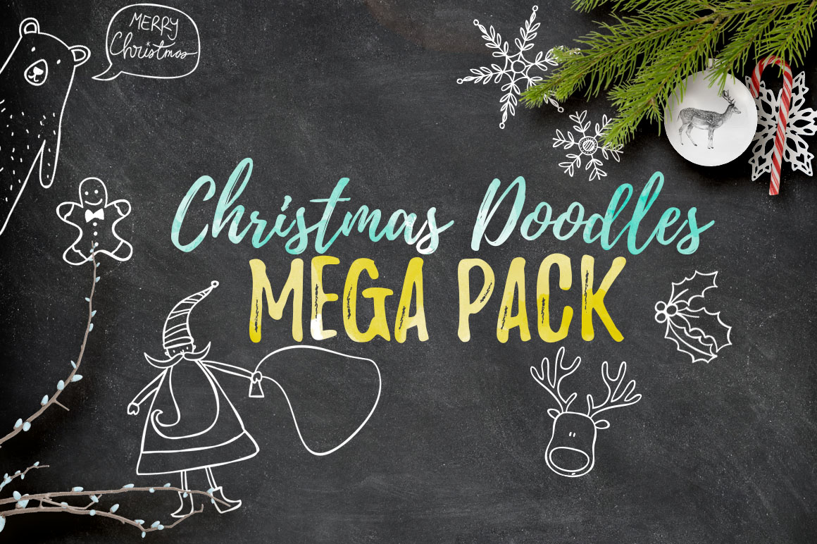 Christmas Doodles Mega Pack example image 1