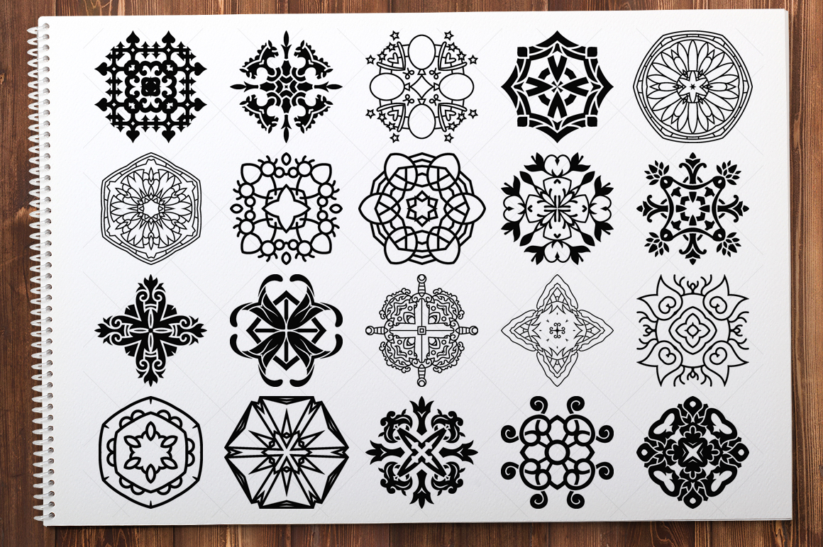 500 Vector Mandala Ornaments example image 25
