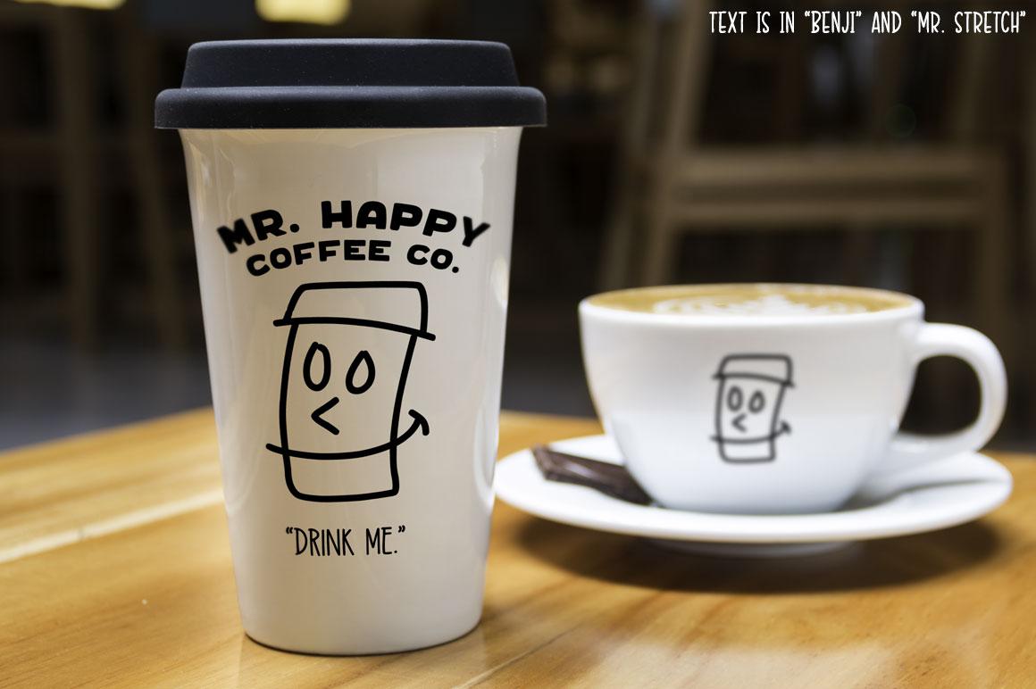 Kookyheads: a dingbat doodle font! example image 6