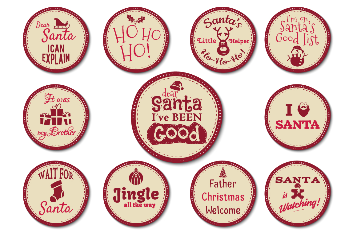 Funny Christmas Badges Collection example image 6