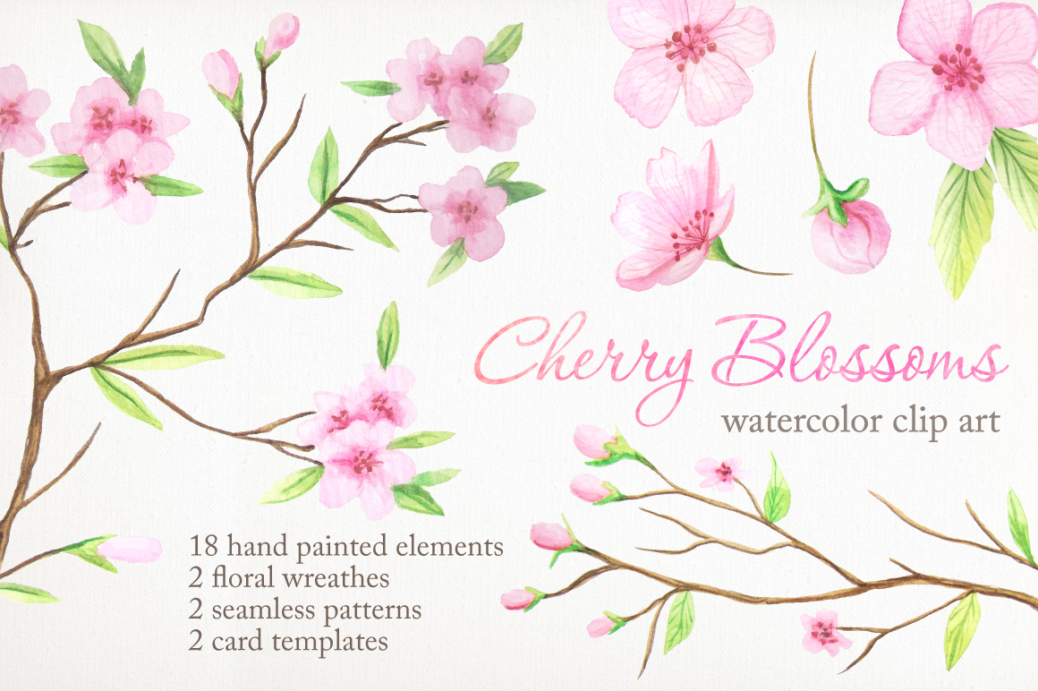 Summer Watercolor Floral BUNDLE example image 10
