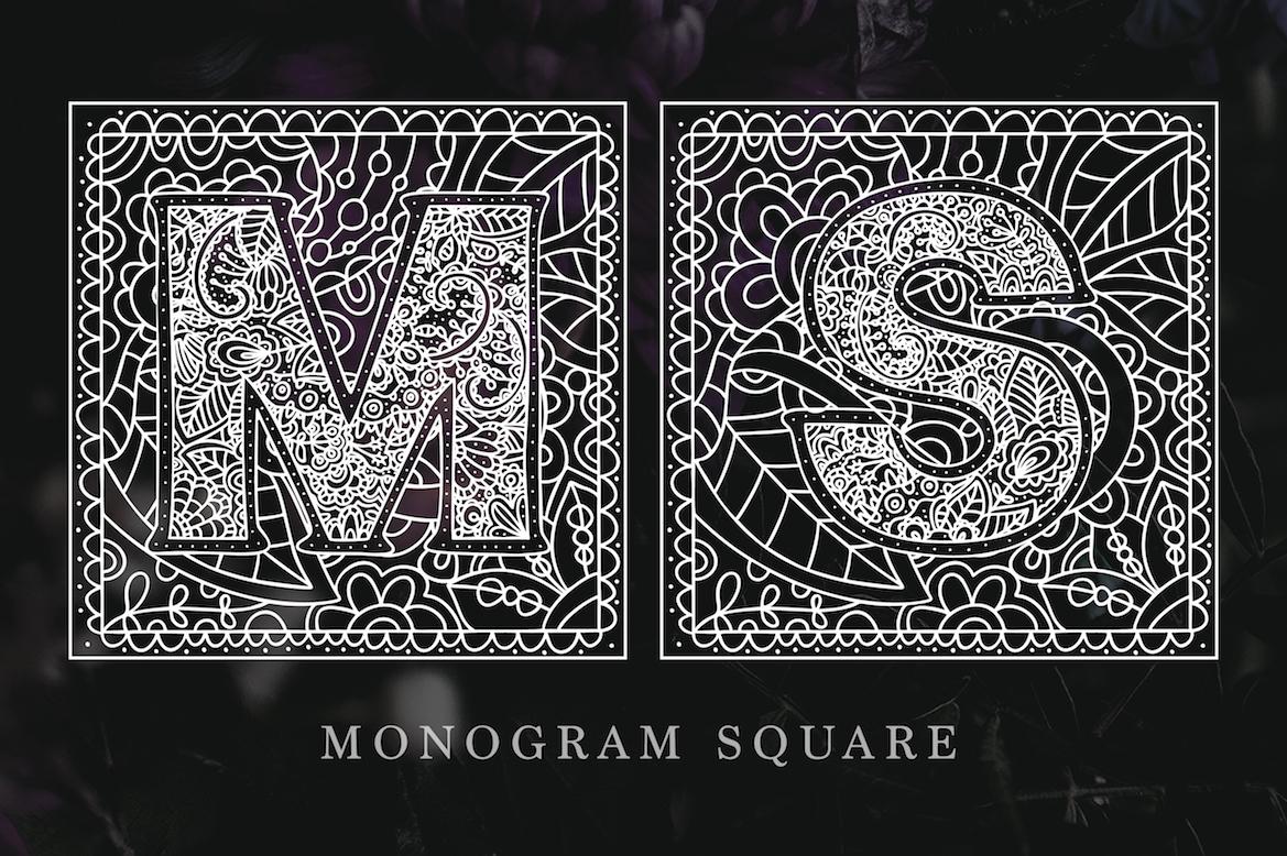 Monogram. 5 elegant fonts. example image 4