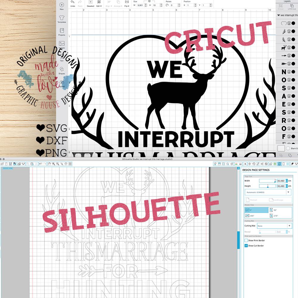 We interrupt the marriage for the hunting Season (SVG, DXF, PNG) example image 2