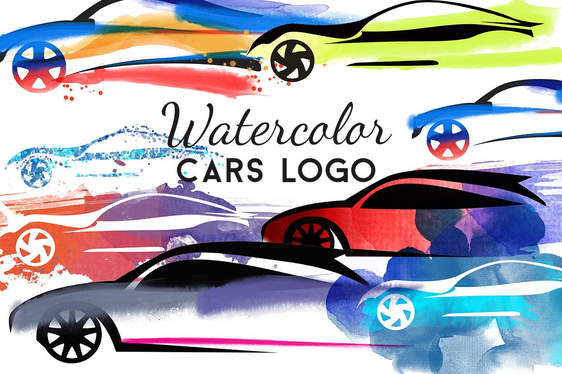Watercolor cars logo example image 1