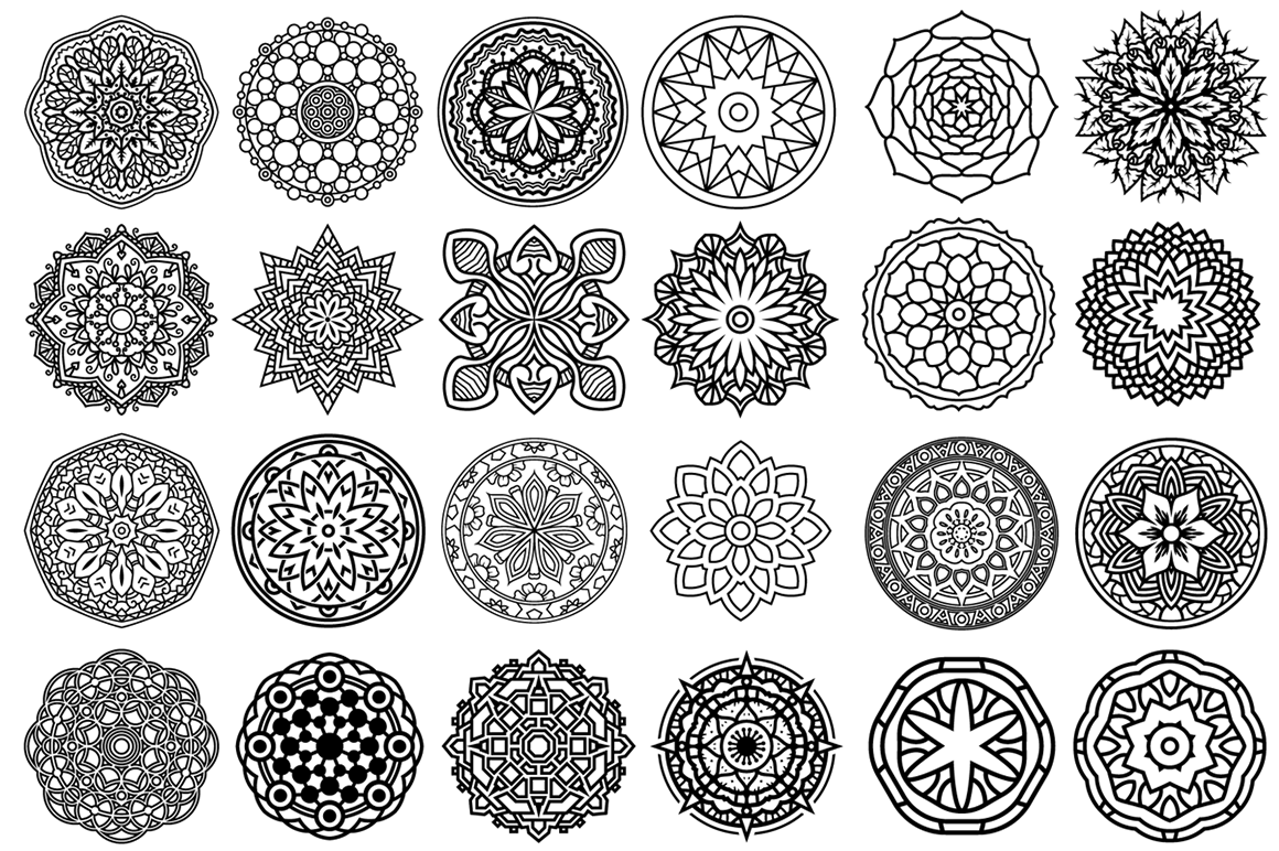 100 Vector Mandala Ornaments example image 2