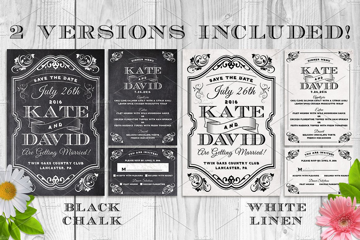 Massive Wedding Invite Bundle Flyer Save the Date Bridal Shower Party 60% Off example image 6