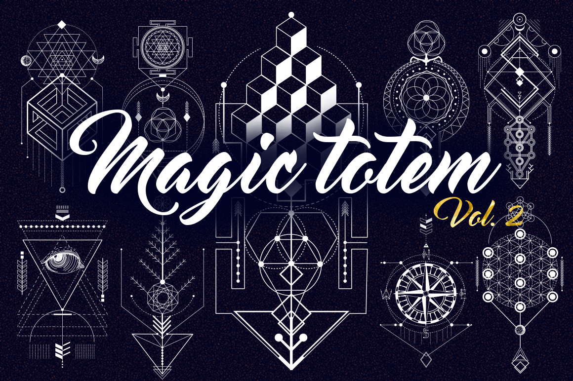 Sacred Geometry. Magic totem vol.2 example image 1