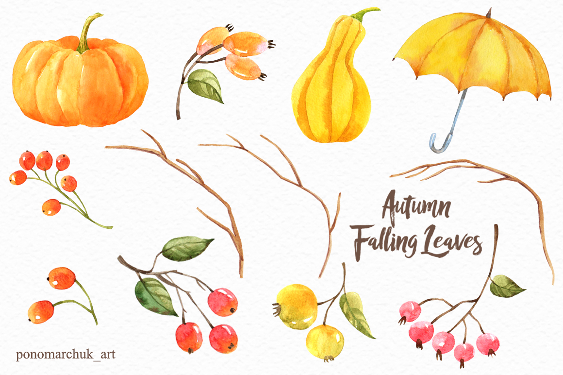 Autumn falling leaves example image 6