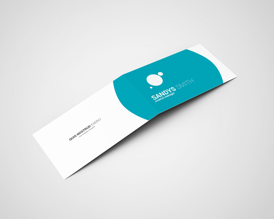 Folded Business Card Mock-Ups by ToaSin | Design Bundles