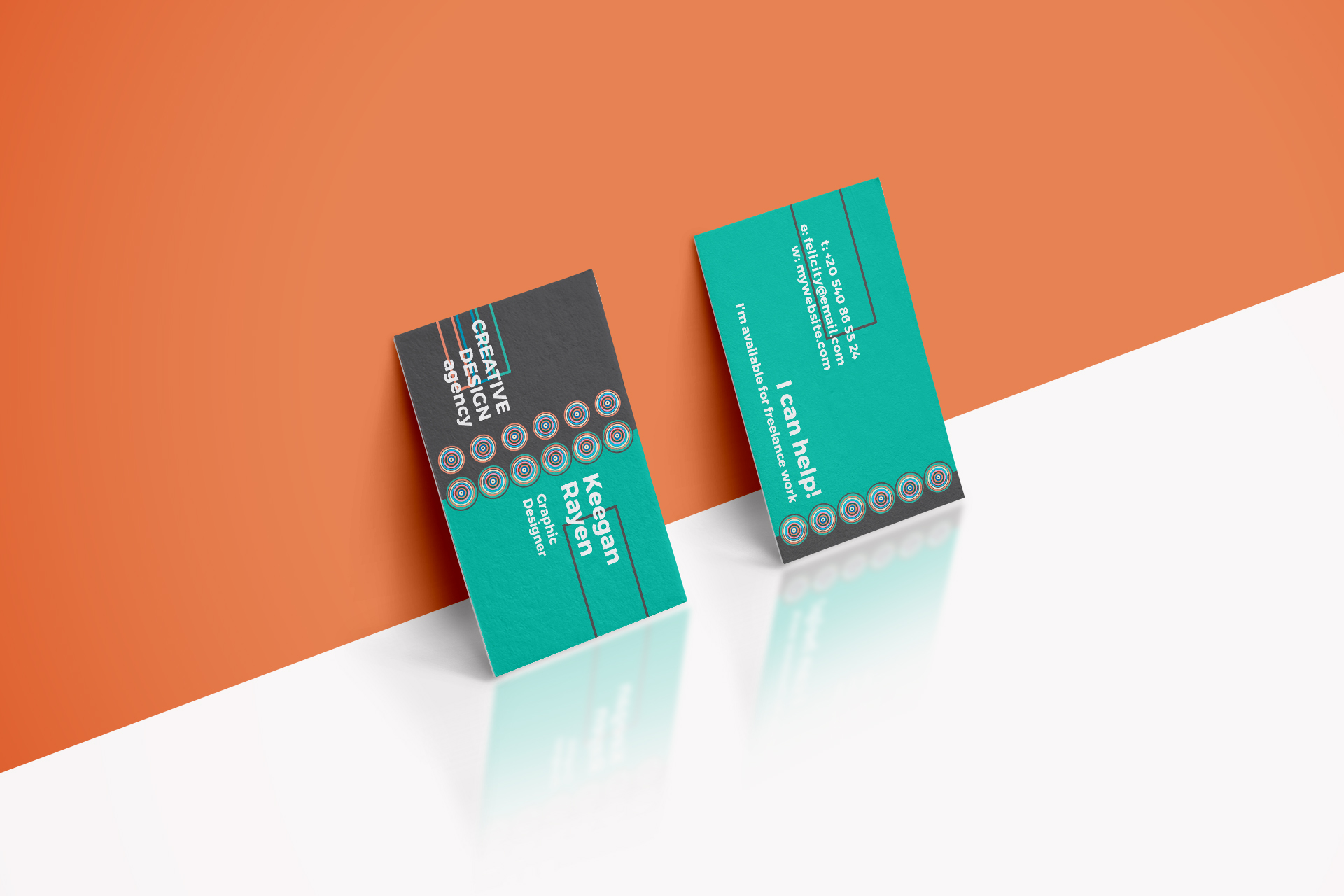 Creative Design Agency Business Card by | Design Bundles