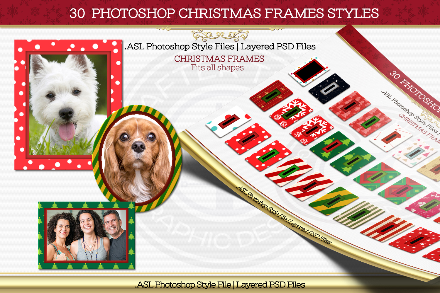 30 Christmas Frame Styles example image 1