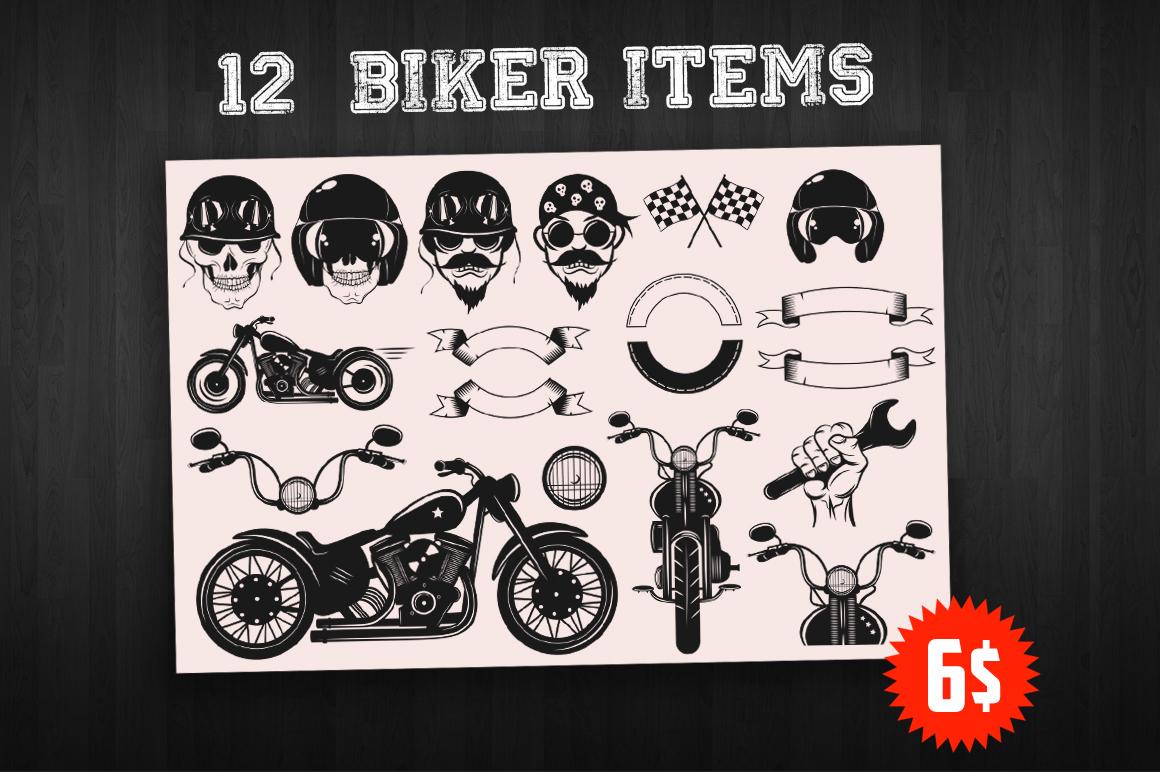 Bikers Logo Bundle example image 1