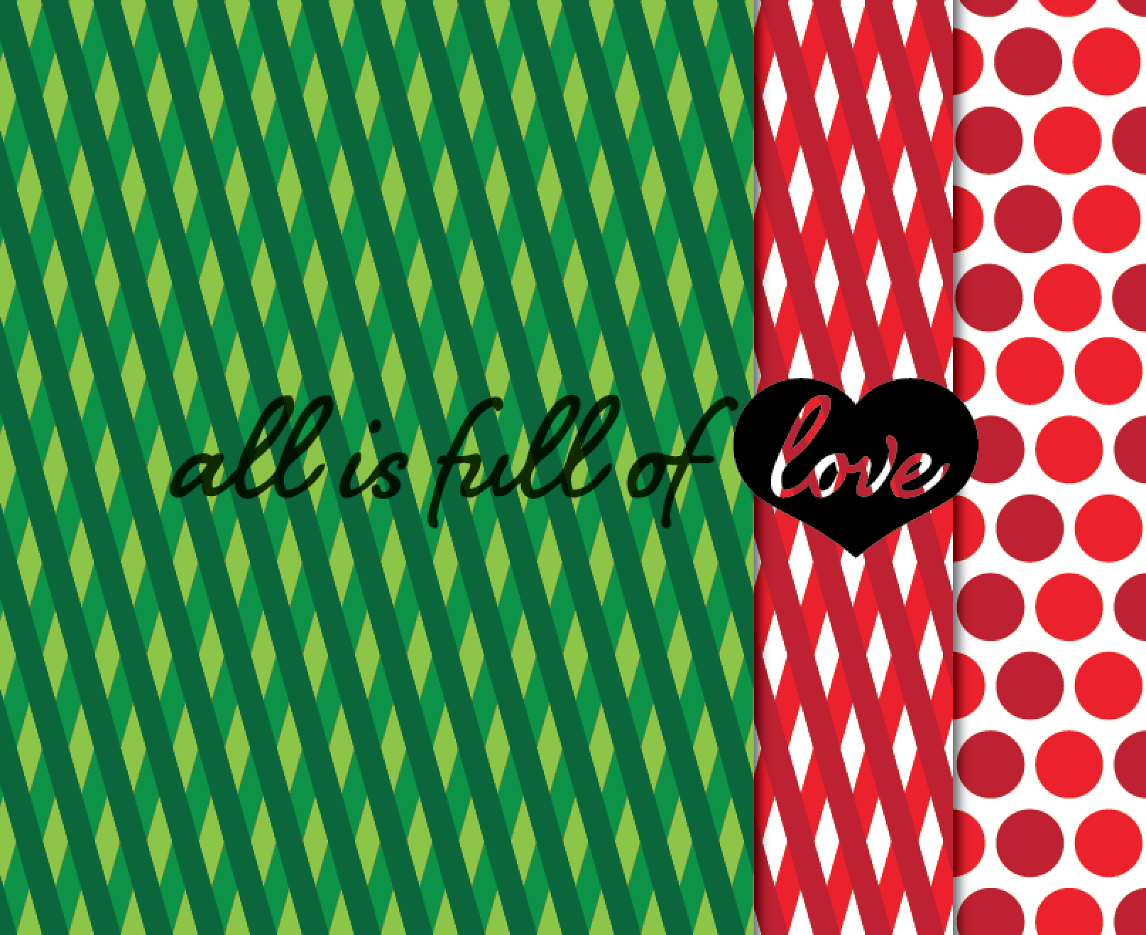 Christmas Digital Paper Pack Xmas Background Graphics in Red and Green example image 3