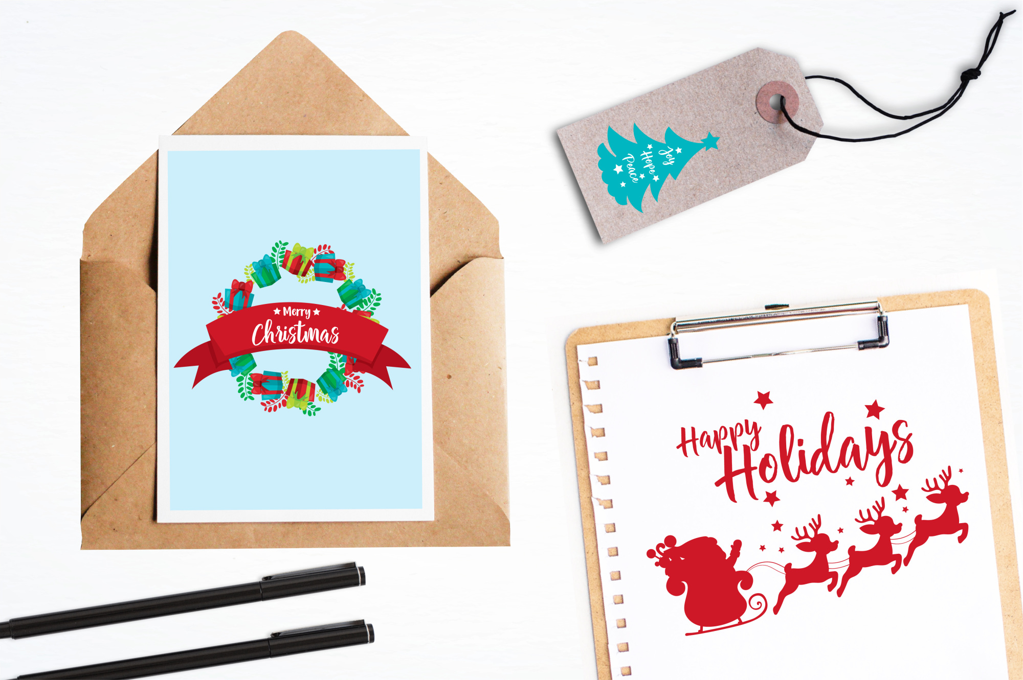 Happy Holidays  graphics and illustrations example image 4