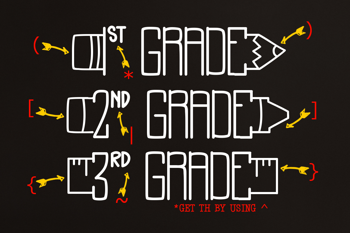 Back to School a Supply Font example image 3