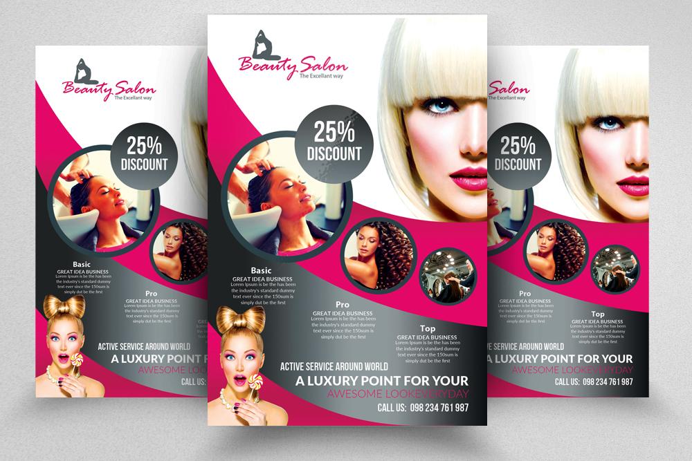 Hair Salon Flyer Template Free Heartpulsar