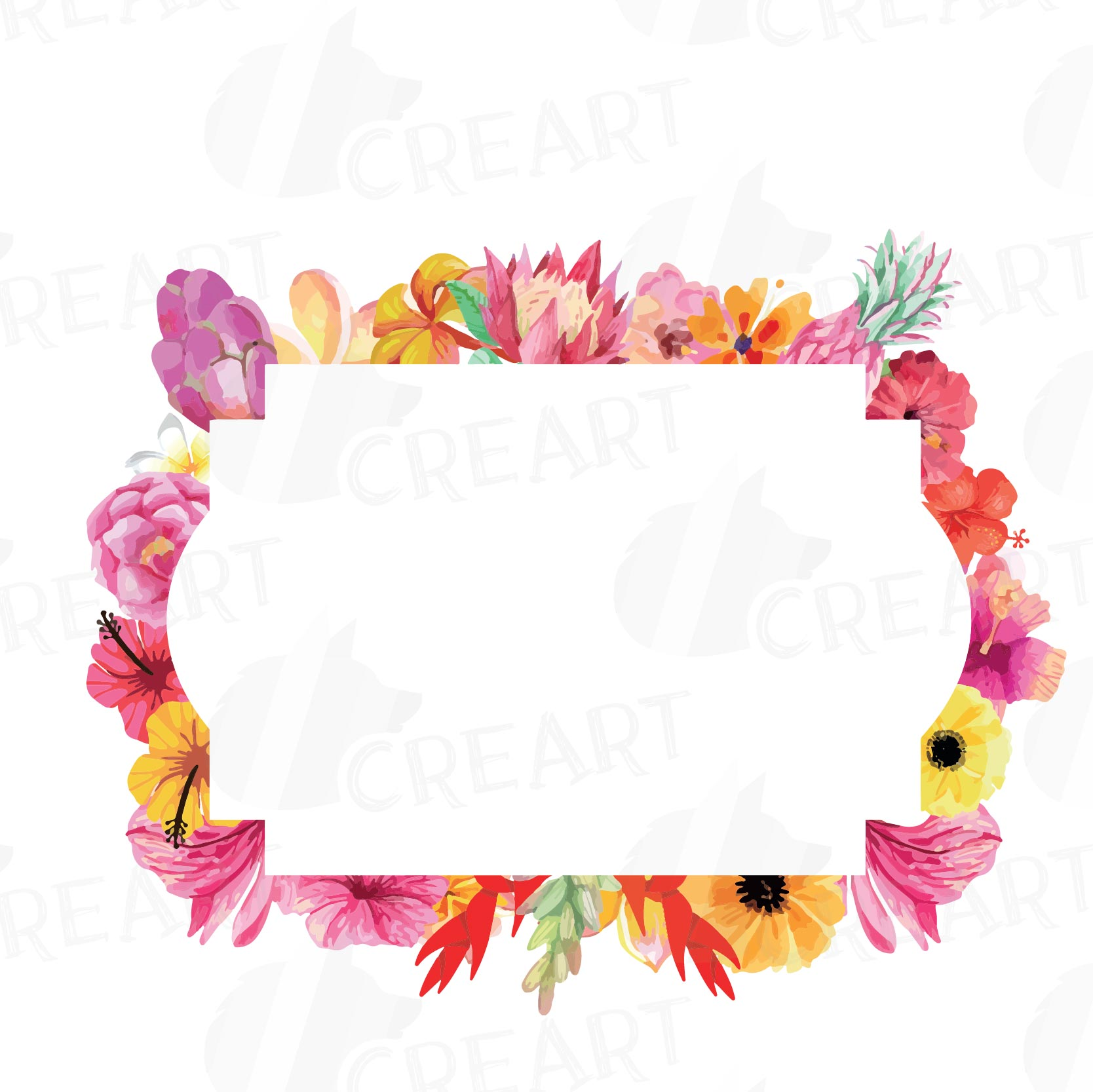 Modern floral frames sketch picture frame ideas stillhouseplants floral frames watercolor clip art colle design bundles mightylinksfo