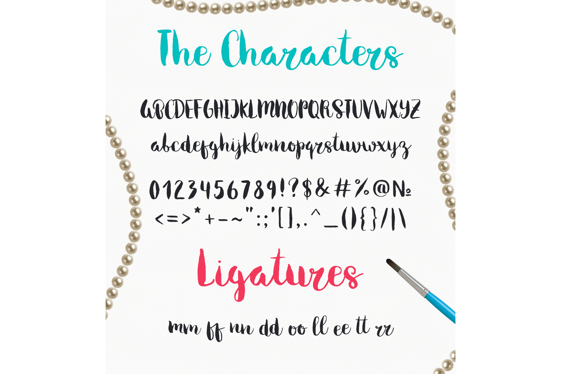 Melony Script, Hand Drawn Brush Font example image 2