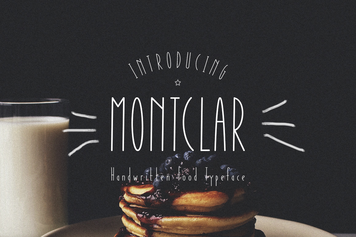 Montclar Font & Food Icons example 1