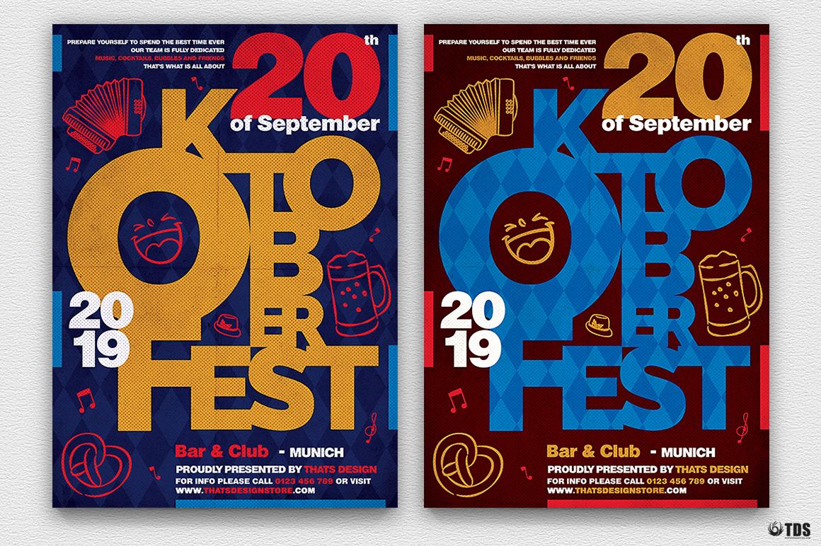 Oktoberfest flyer template V8 example image 2