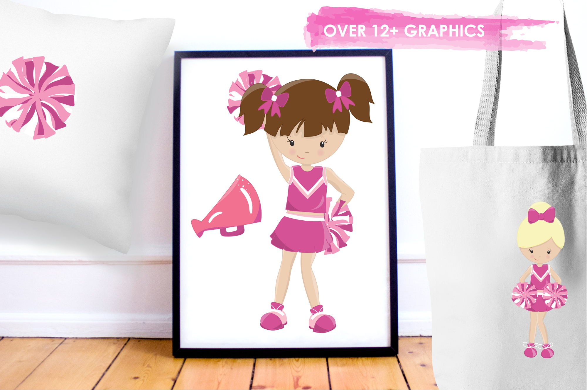 Cheerleaders graphics and illustrations example image 5