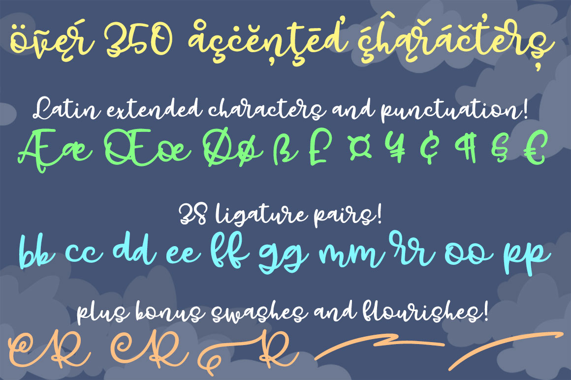 Gray Skies: handwritten script font example image 3