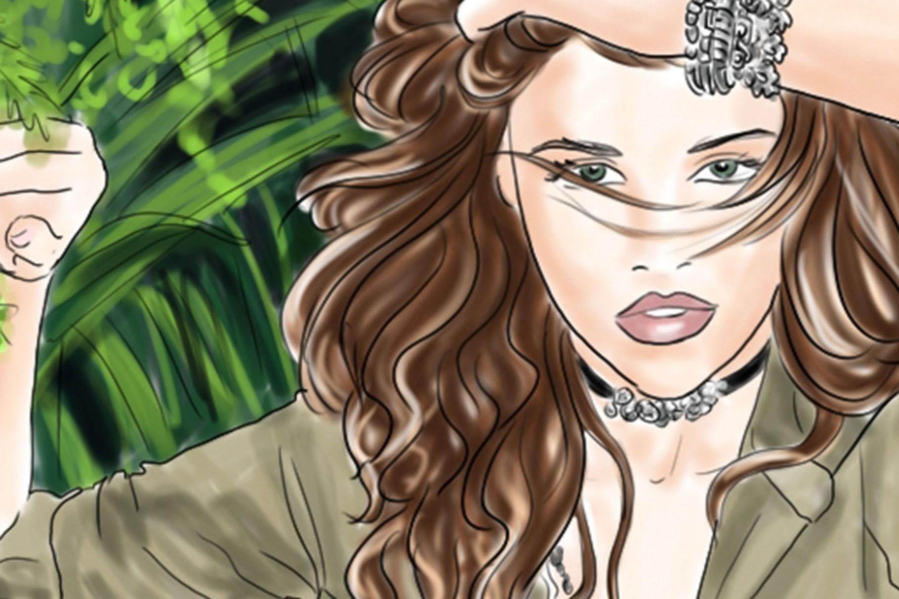 Fashion illustration - Jungle Fever - Light Skin example image 2