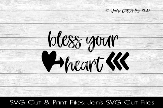 Bless Your Heart SVG Cut File example image 1