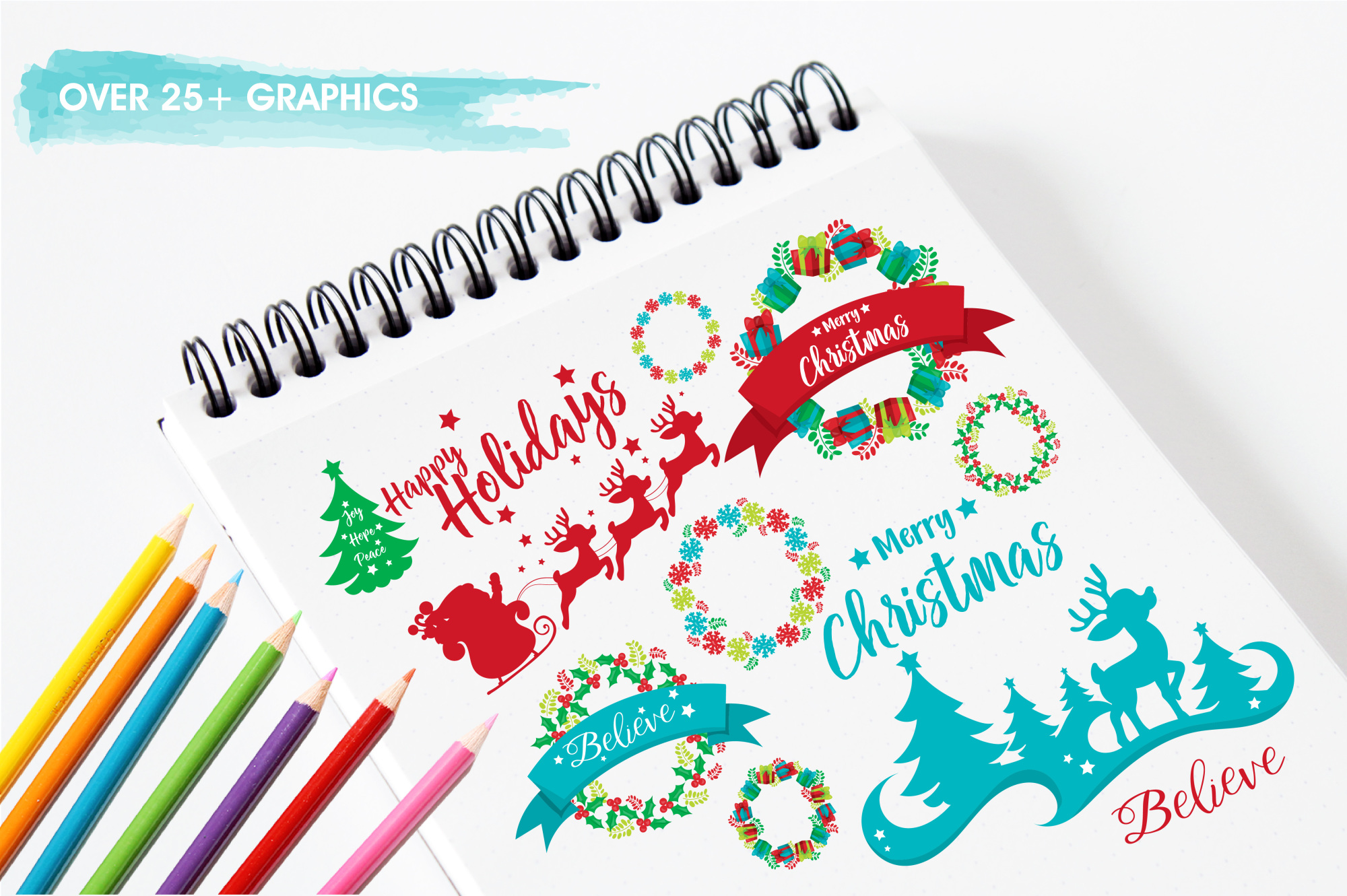 Happy Holidays  graphics and illustrations example image 3