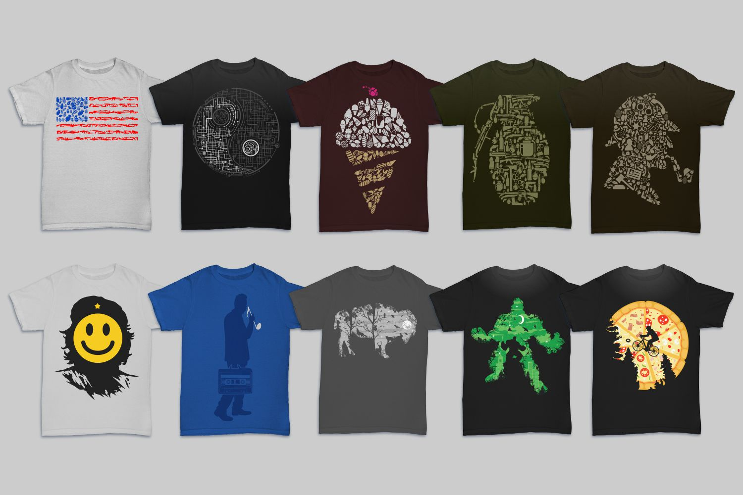 Tshirt Designs Mega Bundle Pack 1 + Pack 2 example image 5
