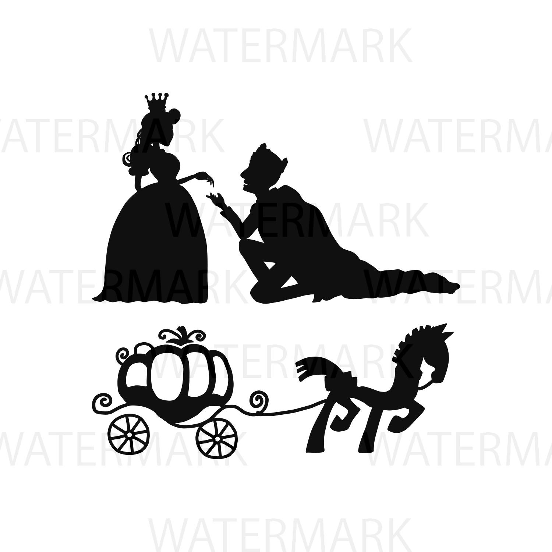 Prince And Princess Horse And Carriag Design Bundles