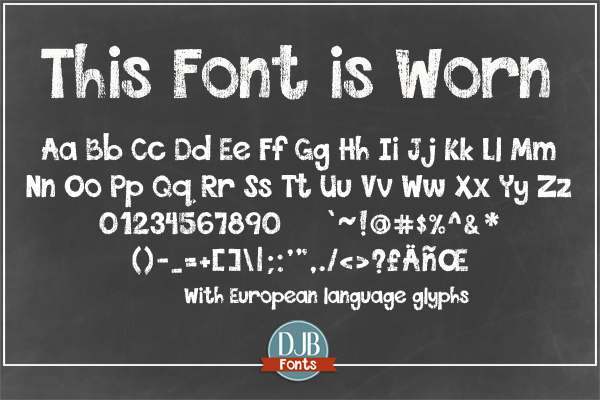 DJB This Font is Bundled example image 5