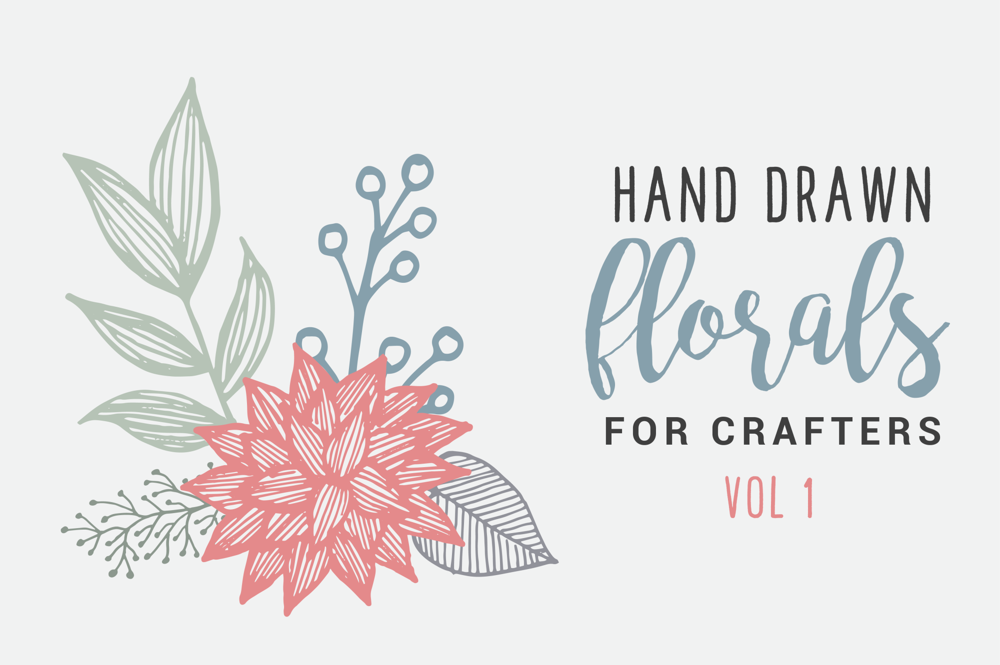 Hand Drawn Florals for Crafters example image 1