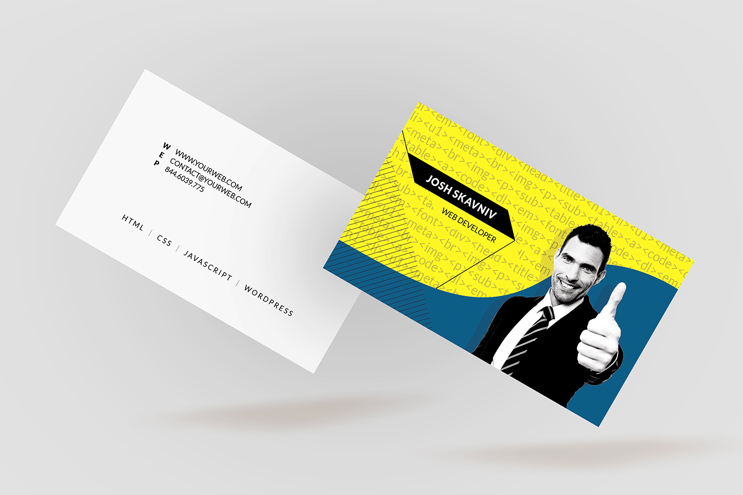 Web developer business card bc050 by design bundles web developer business card bc050 example image 5 colourmoves