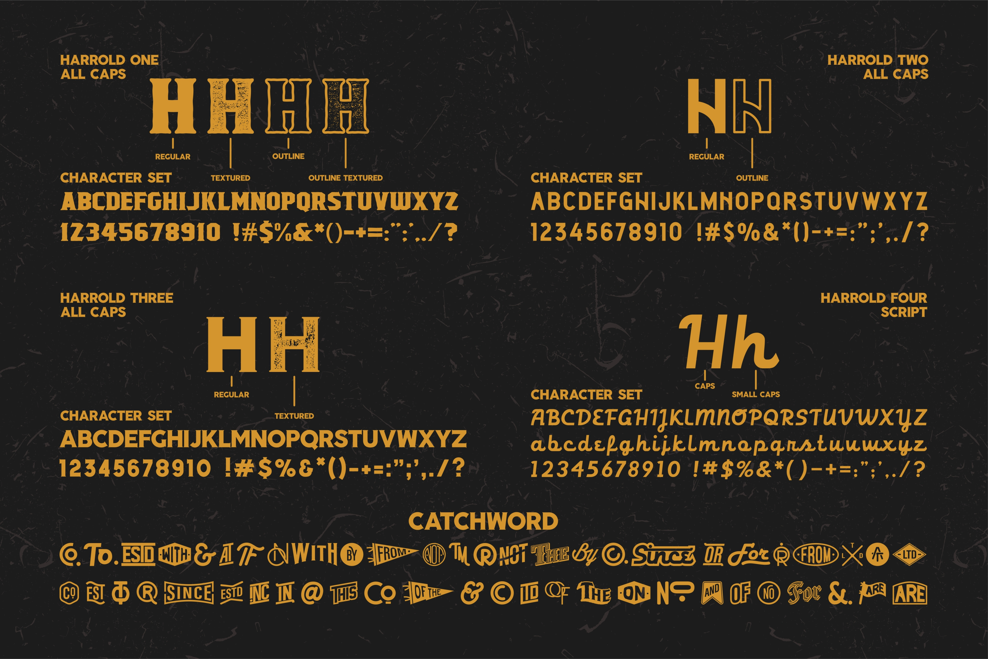 Harrold Font Family & Vector Collections example image 6