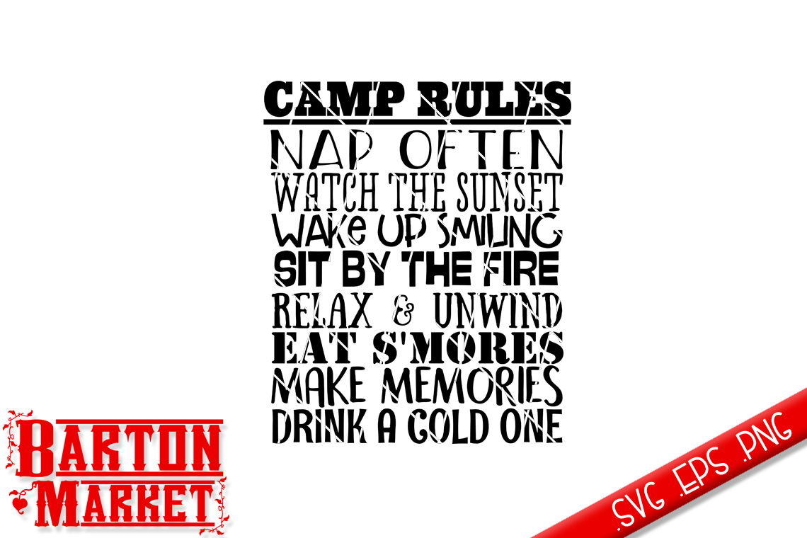 Camp Rules SVG / EPS / PNG example image 2