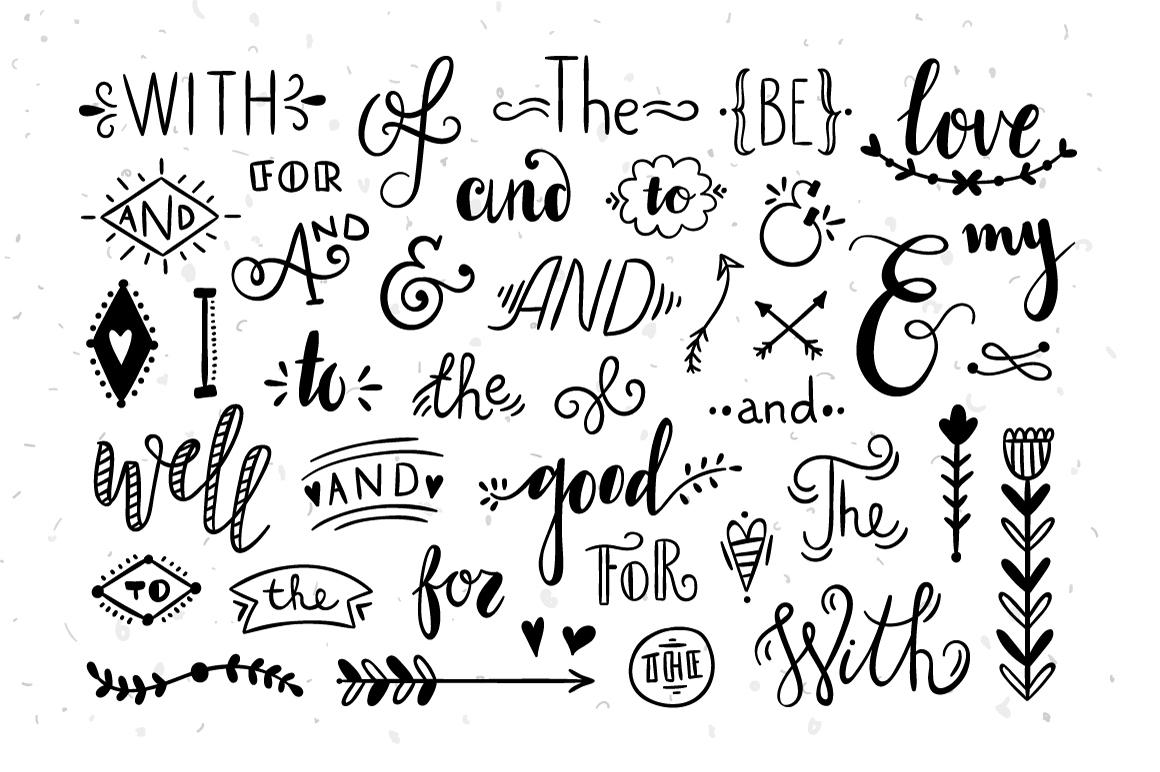 Catchwords and Ampersands by redchocola | Design Bundles
