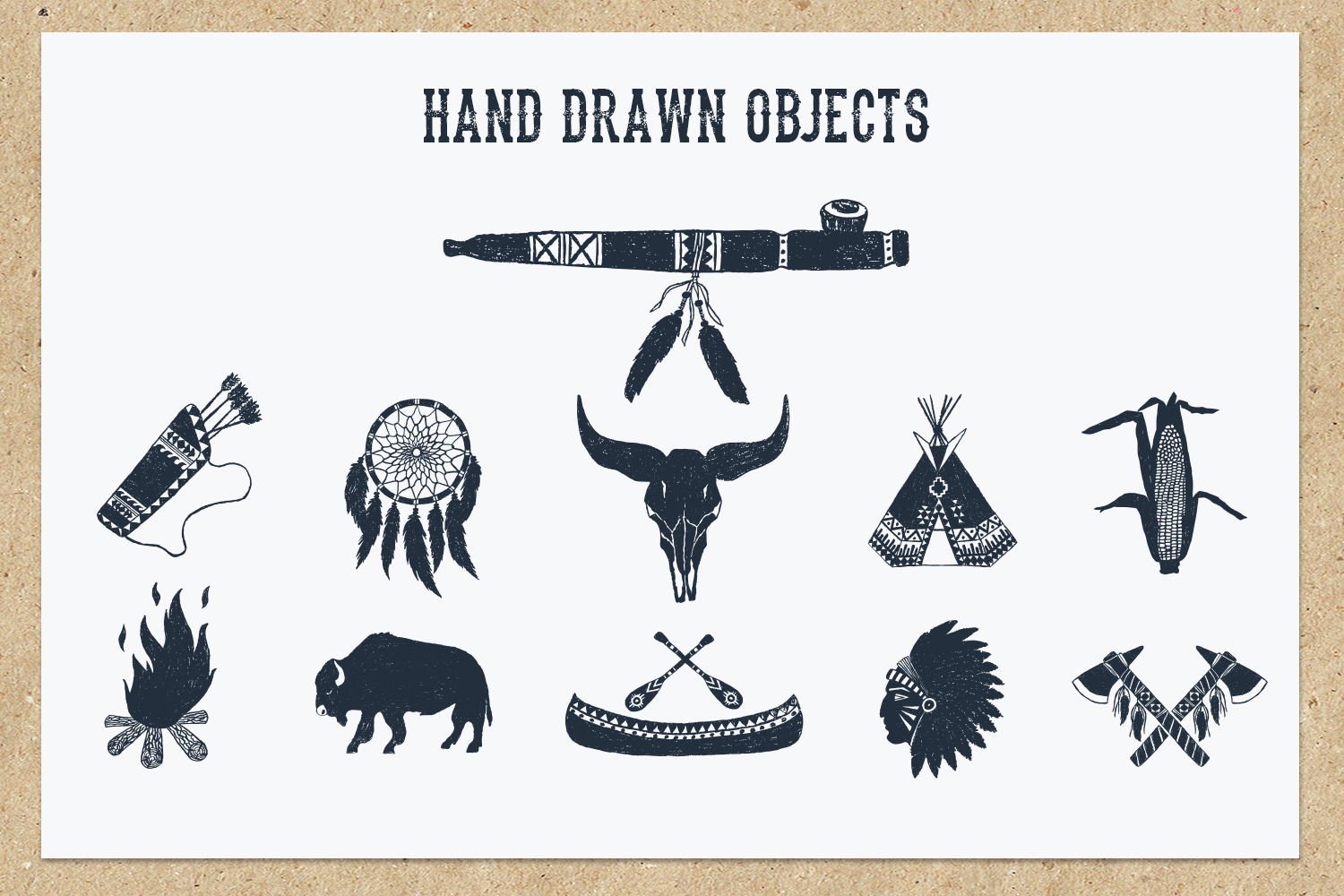 Native Spirit. 55 Hand Drawn Objects example image 5