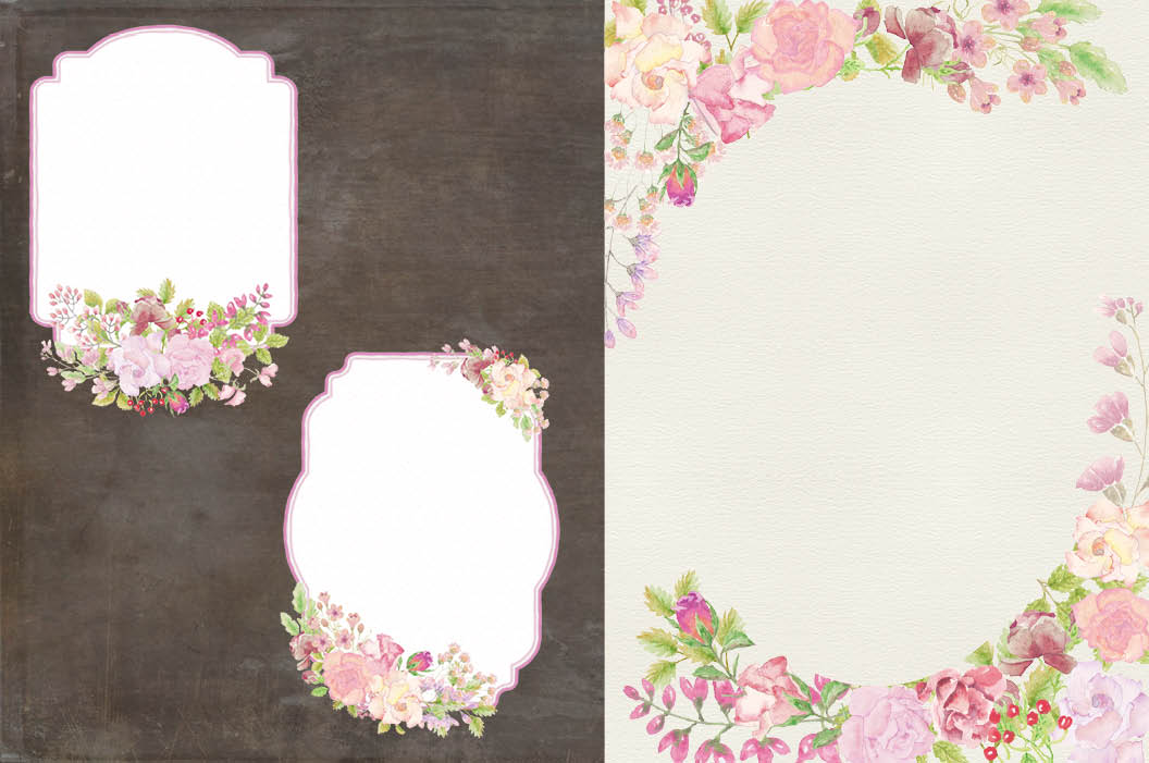 Wedding clip art bundle in blush roses example image 7