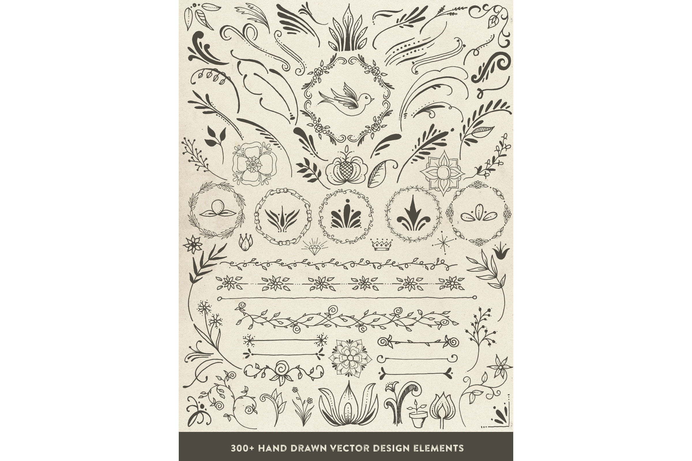 Hand Drawn Vector Design Elements example image 4