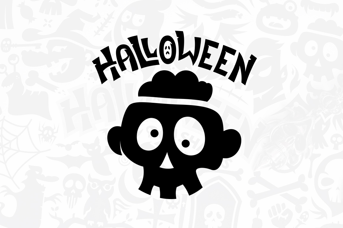 Halloween Vector Shapes Collection example image 2
