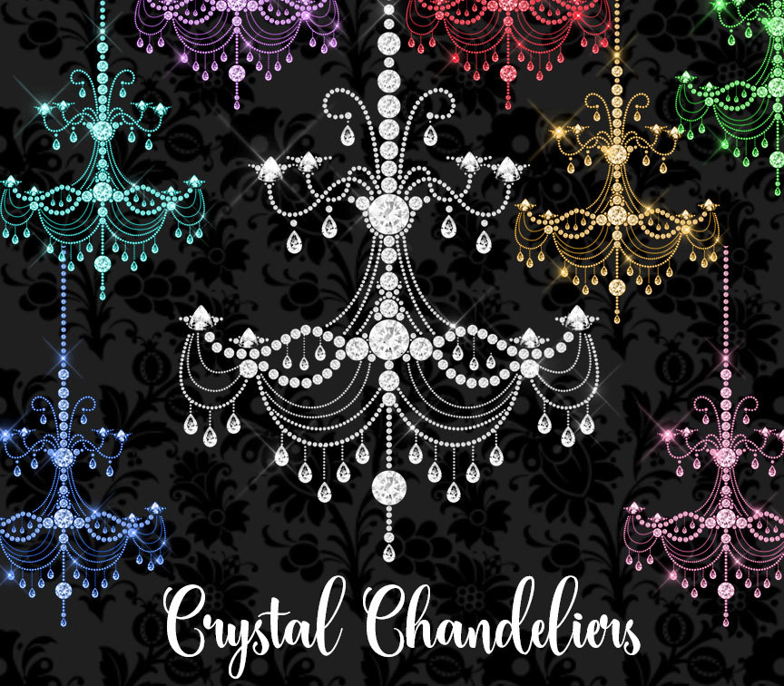 Crystal diamond chandeliers clipart by design bundles crystal diamond chandeliers clipart example image 1 mozeypictures Images