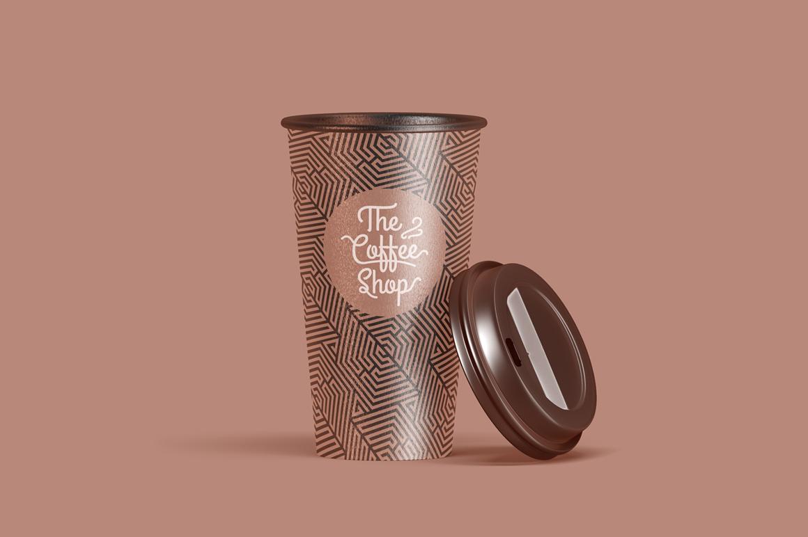 Coffee Cup Animated Mockups Bundle (Coffe mug mock up, cofee cup mockup, tea take away cup mock-up) example image 13