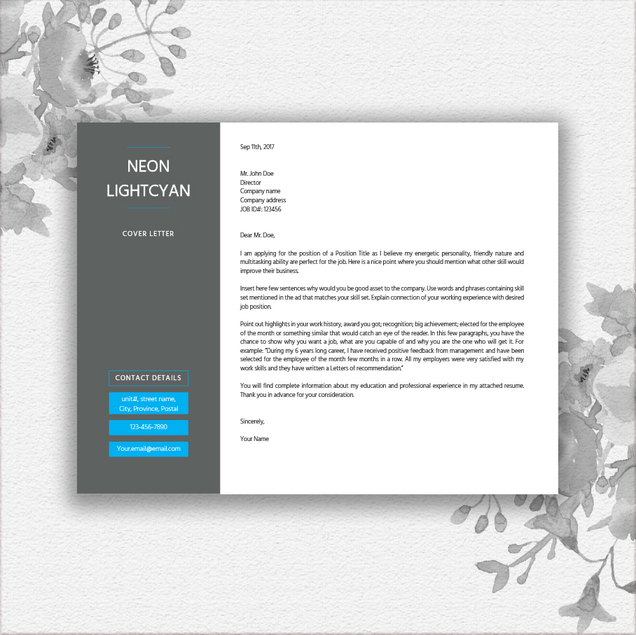 Landscape Resume Template By Documentfo  Design Bundles