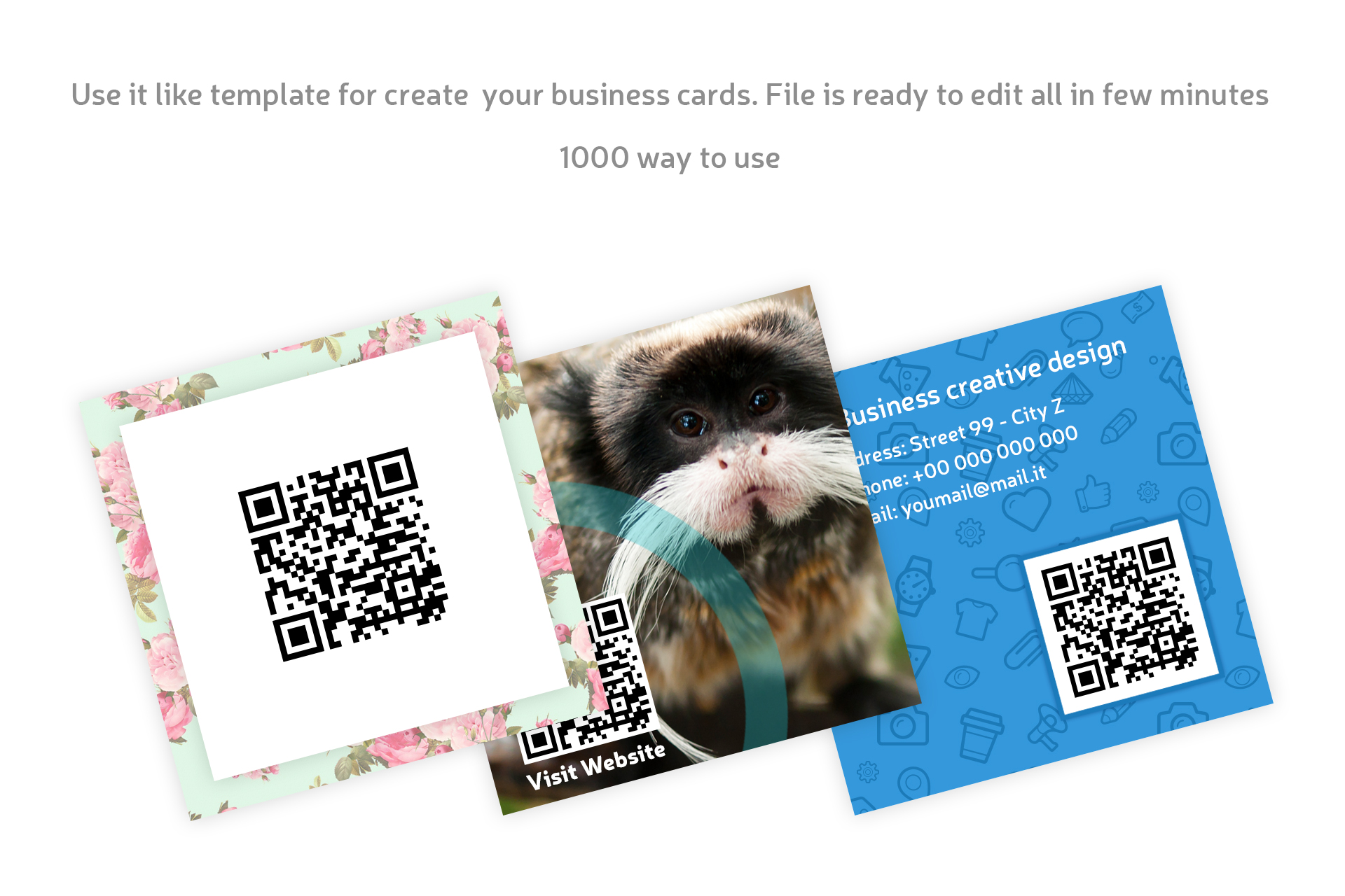 Square Business Card QR code example image 3