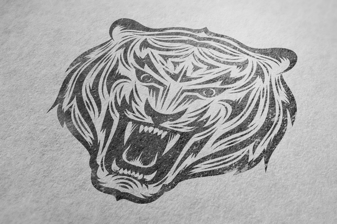 Tiger Mascot Template example image 6
