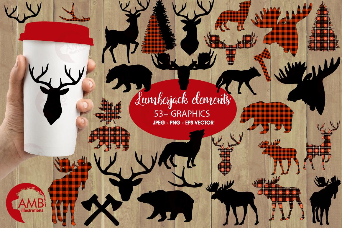 Lumberjack clipart, graphic, illustration, AMB-2315 example image 1