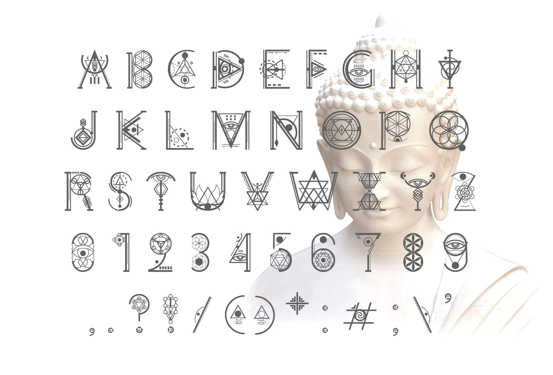 Ancient-Geometry font example image 4